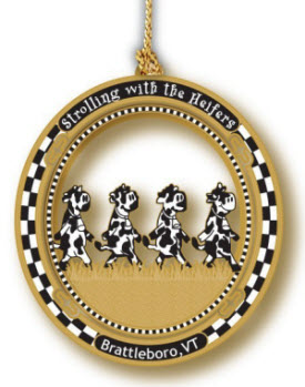 Strolling of the Heifers Ornament
