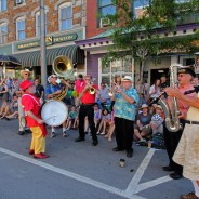 Celebration Brass Band will entertain at the River Garden during Gallery Walk