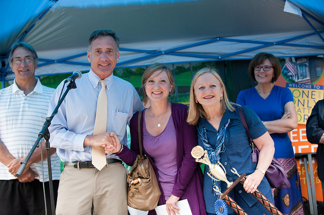 Governor Shumlin awarding prizes after the 2012 competition