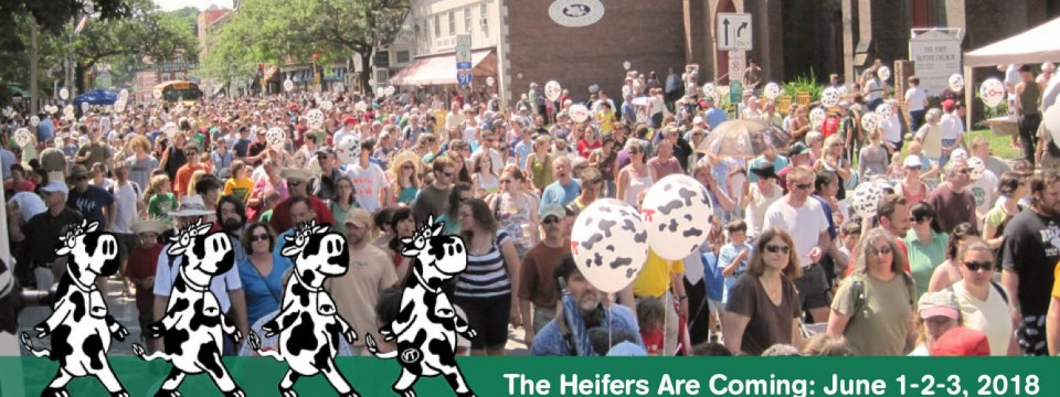 Watch video of the June 3, 2017 Strolling of the Heifers Parade