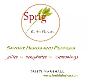 Sprig Savory Herbs and Peppers