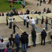 Put together a human foosball team to play at the June 3 Stroll Expo!