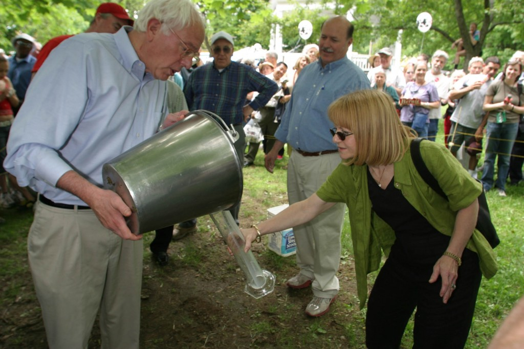 orly and Bernie Milking Contest