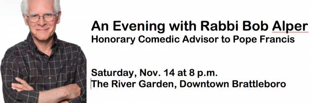 An Evening with Rabbi Bob Alper, Honorary Comedic Advisor to Pope Francis