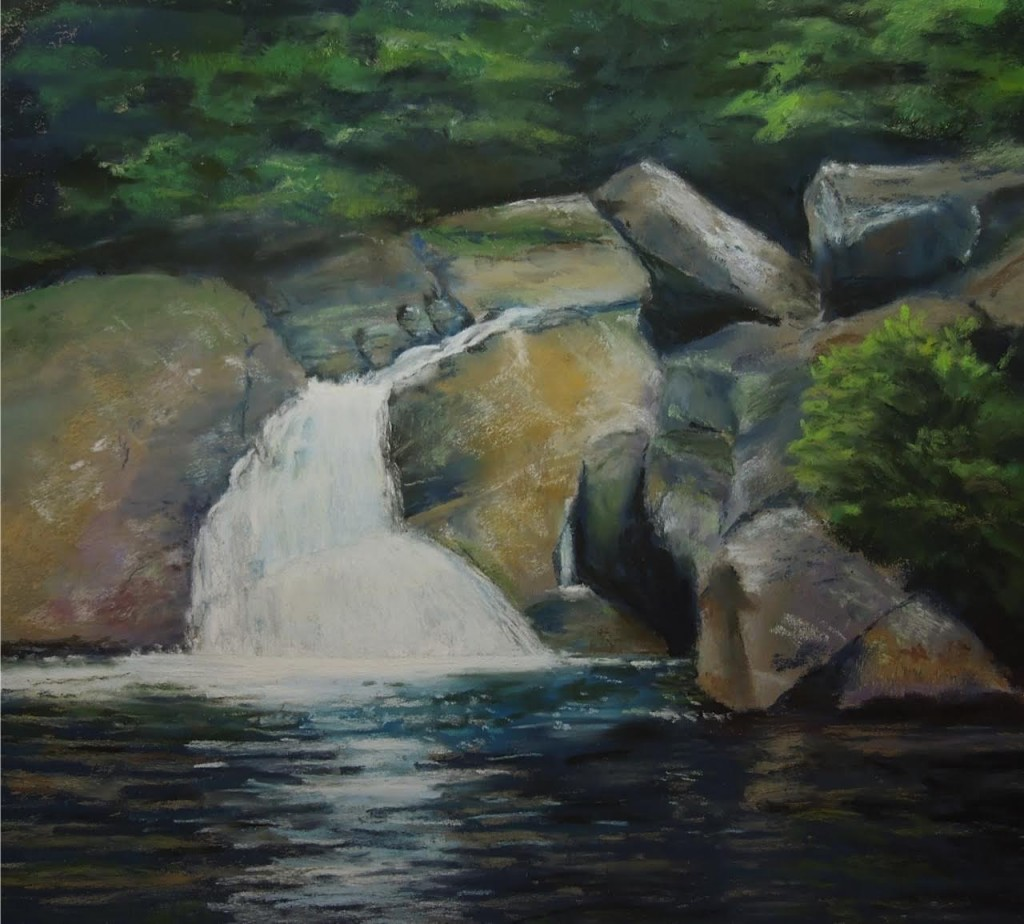 """The Swimming Hole"" — pastel by Maggie Smith"