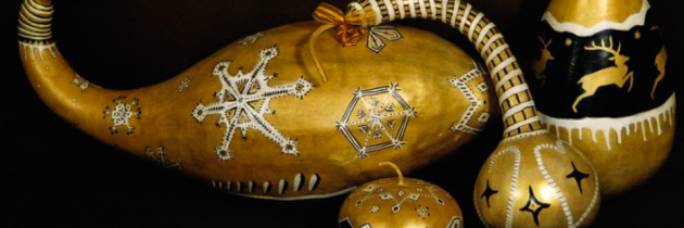 December Gallery: Gourdgeous Art and Acrylic on Slate