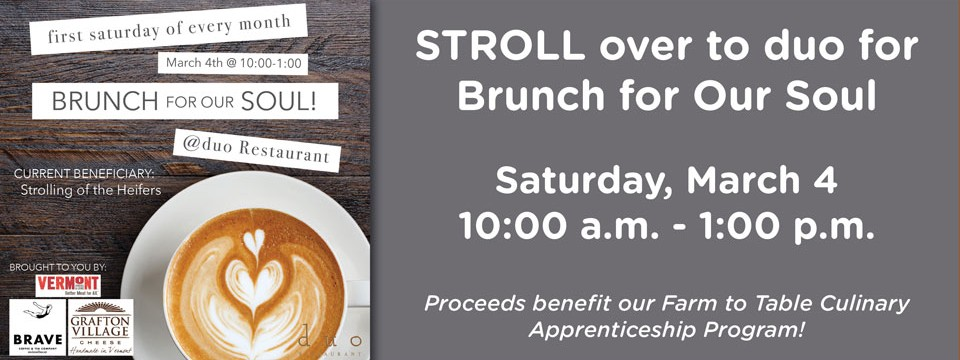 Brunch for Our Soul at duo March 4