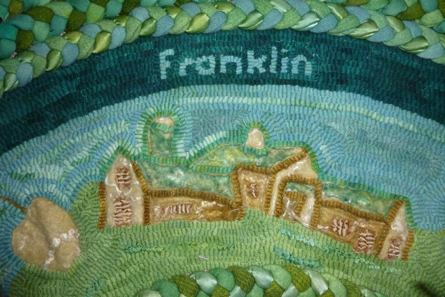 Kris McDermet — hooked rug, Franklin Farm