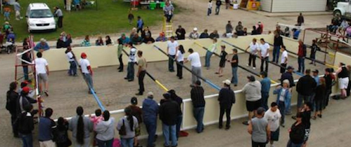 Put together a human foosball team to play at the June 2 Stroll Expo!